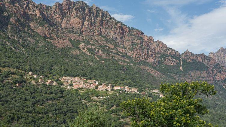 Le village d'Ota, en Corse du sud, le 31 août 2018. (MONTICO LIONEL / HEMIS.FR / AFP)