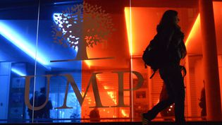 Le siège de l'UMP, à Paris, le 29 novembre 2014. (MIGUEL MEDINA / AFP)