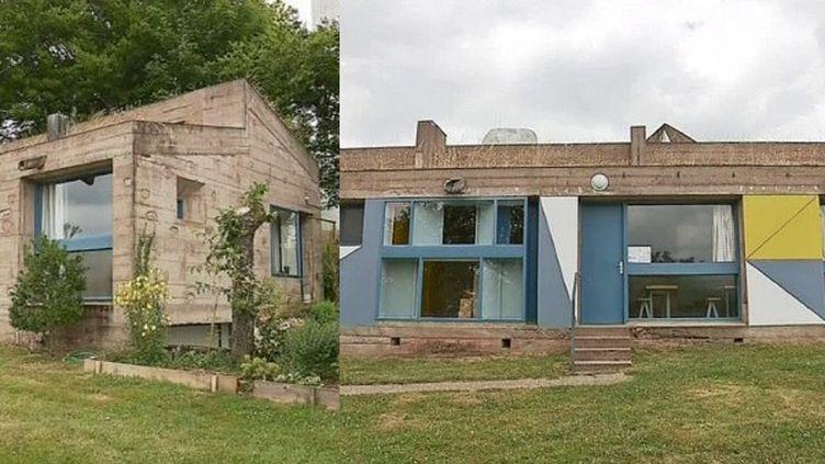 ARonchamp (Doubs) les maisons du chapelain et du pélerin qui entourent la chapelle sont aussi signées Le Corbusieur  (France 3 / Culturebox)