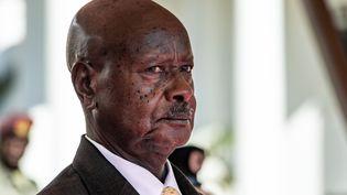 Le président ougandais Yoweri Museveni à Entebbe, le 9 novembre 2019. (SUMY SADURNI / AFP)