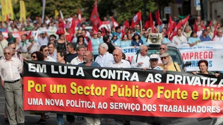 Manifestation contre les mesures d'austérité au Portugal (AFP/SARA MATOS)