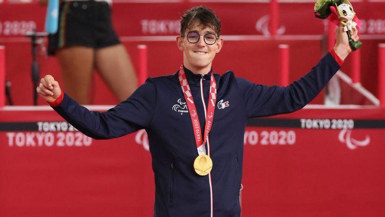Alexandre Léautéa remporté quatre médailles lors des Jeux paralympiques de Tokyo. (MASAKI AKIZUKI / YOMIURI / AFP)