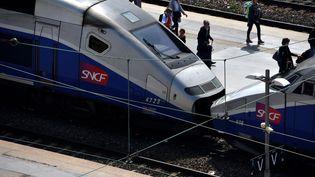Des trains sont en gare de Marseille (Bouches-du-Rhône), le 23 mai 2018. (GERARD BOTTINO / CROWDSPARK / AFP)