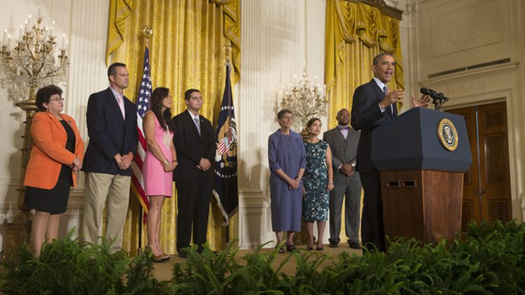 "(Barack Obama présentait lundi le ""America's Clean Power Plan"" © Maxppp)"