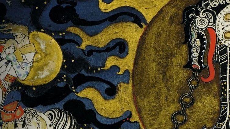 Kay Nielsen : A l'est de la Lune, à l'ouest du soleil (détail)  (Taschen)