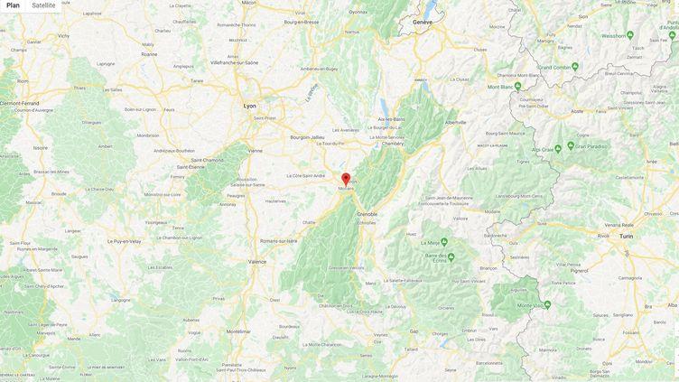 Un homme a été interpellé à hauteur de Moirans dans l'Isère le mardi 10 mars après une course poursuite avec les policiers de la brigade des stupéfiants de la police judiciaire de Lyon. (GOOGLE MAPS)