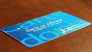 Il est aujourd'hui possible de demander une carte de donneur d'organes auprès de l'agence de biomédecine pour signifier son accord au prélèvement. (MAXPPP)