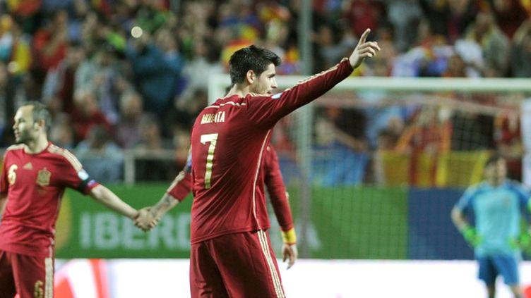 Face à l'Ukraine, Alvaro Morata a inscrit son premier but avec l'Espagne.