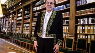 Le philosophe et académicien Alain Finkielkraut, le 28 janvier 2016 à l'Institut de France. (MAXPPP)