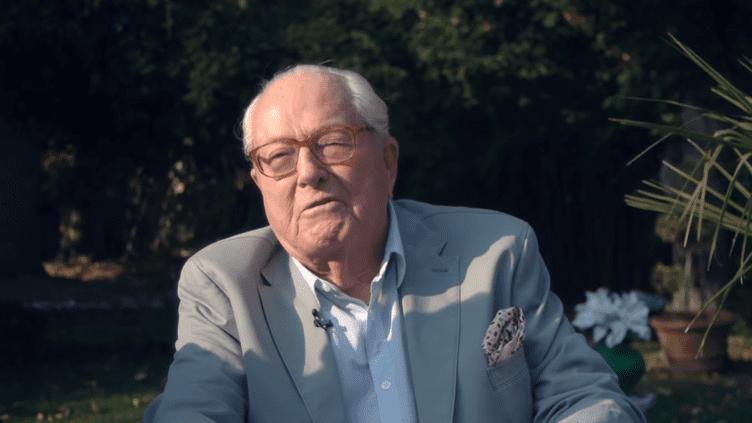 Capture d'écran d'une vidéo de Jean-Marie Le Pen mise en ligne le 18 octobre 2018. (JEAN-MARIE LE PEN / YOUTUBE)