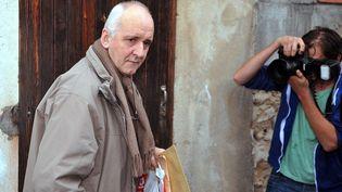 Dany Leprince à sa sortie de prison, le 19 octobre 2012. (PIERRE ANDRIEU / AFP)