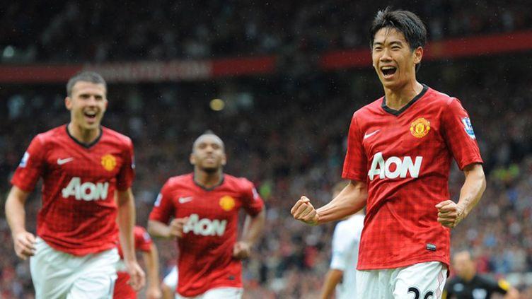 La joie de Kagawa (Manchester United) (ANDREW YATES / AFP)