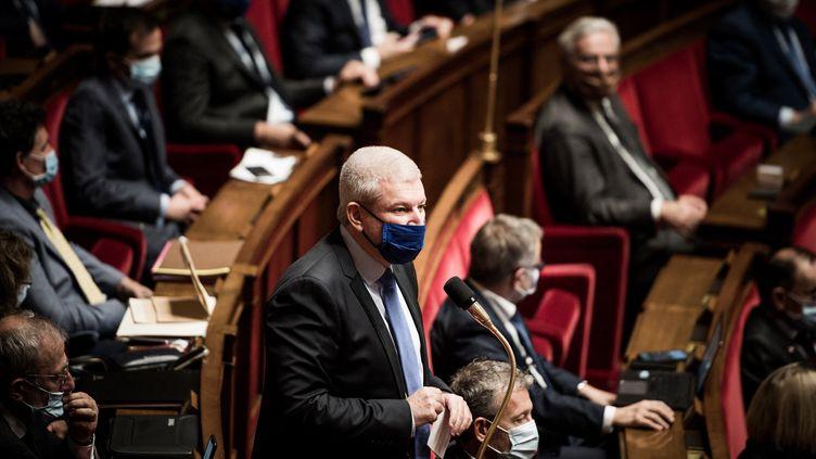Le député Libertés et Territoires Olivier Falorni, le 13 octobre 2020 à l'Assemblée nationale, à Paris. (ARTHUR NICHOLAS ORCHARD / HANS LUCAS / AFP)