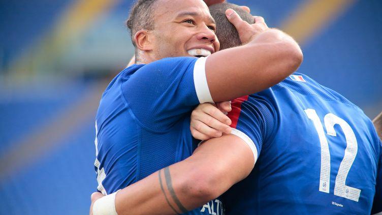 Teddy Thomas lors de la victoire de la France contre l'Italie, samedi 6 février 2021. (NDERIM KACELI / NDERIM KACELI)