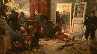 """""""Les Dernières cartouches"""" d'Alphonse de Neuville (1873,) l'une des toiles exposées au Musée de l'Armée.  (RMN-Grand Palais / Hervé Lewandowski )"""