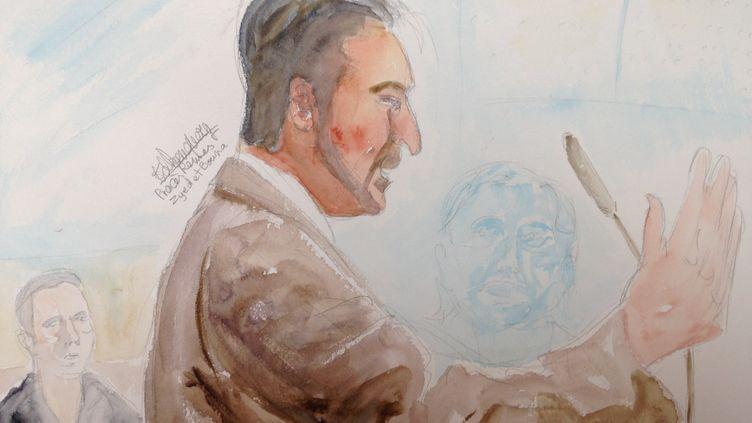 Muhittin Altun est le seul rescapé du drame de Clichy-sous-Bois en 2005. Il était interrogé par le président du tribunal correctionnel de Rennes (Ille-et-Vilaine)en tant que témoin, le 16 mars 2015. (ELISABETH DE POURQUERY / FRANCETV INFO)