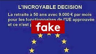 Les 40 000 titulaires permanents de la fonction publique européenne ne partent pas à la retraite avec 9 000 euros. (RADIO FRANCE)