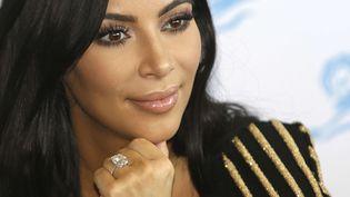 Kim Kardashian au festival de la publicité internationale à Cannes (Alpes-Maritimes), le 24 juin 2015. (LIONEL CIRONNEAU/AP/SIPA / AP / SIPA)