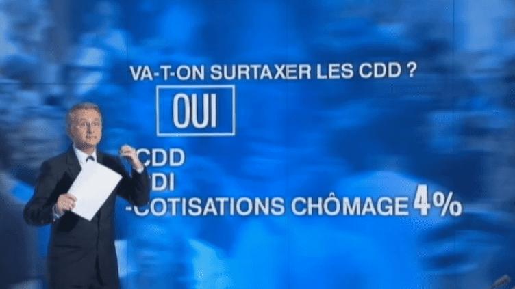 Jean-Paul Chapel sur le plateau du 20 heures de France 2, le 9 janvier 2013. (FRANCE 2 / FRANCETV INFO)