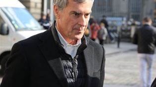 L'ancien ministre du Budget Jérôme Cahuzac, le 12 février 2018 lors de son arrivée à la cour d'appel de Paris. (SEVGI / SIPA)