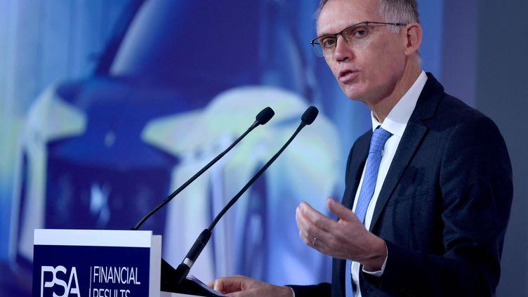 Carlos Tavares, PDG de Stellantis (ex-PSA), en février 2020. (ERIC PIERMONT / AFP)