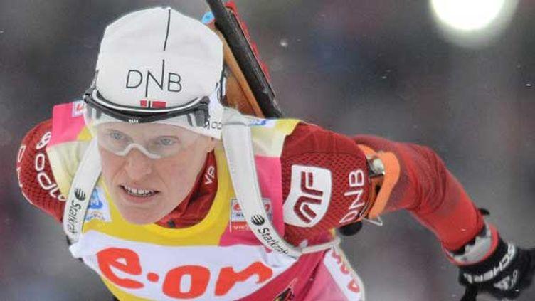 Troisième médaille d'or pour la Norvégienne Tora Berger depuis le début des Mondiaux de Schladming