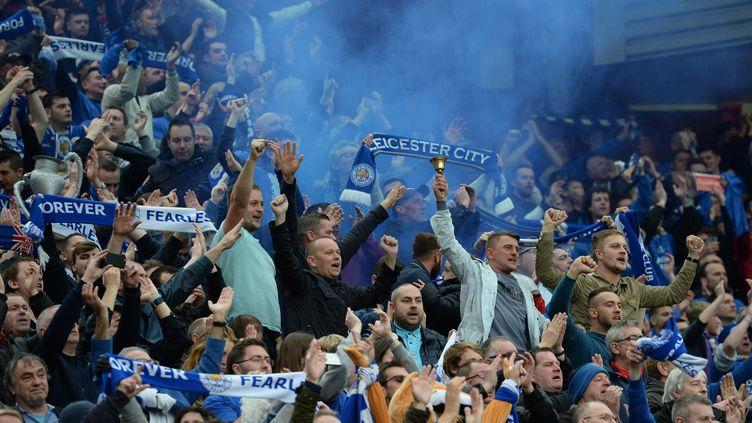 La joie des fans de Leicester (OLI SCARFF / AFP)