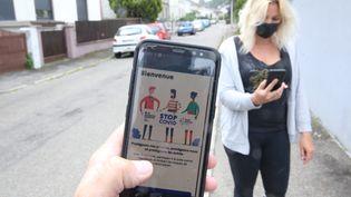 Interface de l'application Stop Covid (photo d'illustration). (JEAN-FRANÇOIS FREY / MAXPPP)