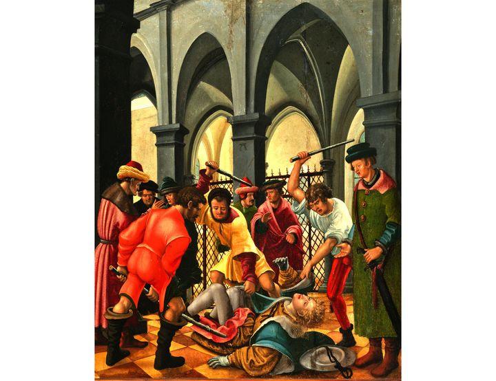 """Albrecht Altdorfer, """"Saint Florian roué de coups"""" (© Prague, National Gallery 2019-jpg)"""