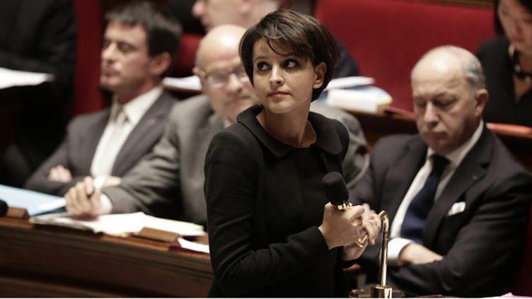 (La ministre de l'Education nationale, Najat Vallaud-Belkacem, souhaite améliorer l'enseignement de la laïcité © MAXPPP)