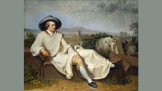 Tischbein, Goethe dans la campagne romaine, 1787, huile sur toile. Francfort, Städelsches Kunstinstitut und Städtisches Galerie  (U. Edelmann - Städel Museum - ARTOTHEK)