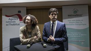 Le 8 janvier 2019, Julien de Normandie et Emmanuelle Wargon lançaient le dispositif MaPrimRenov. (ALEXIS SCIARD / MAXPPP)