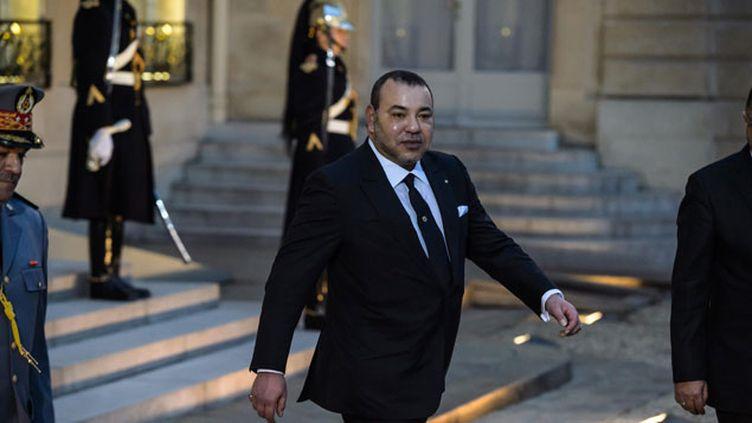 (Le roi du Maroc, Mohammed VI, à l'Elysée. © Maxppp)