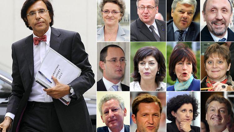 Le Premier ministre belge, Elio Di Rupo, etses douze ministres. Ils ont prêté serment le 6 décembre 2011. (AFP)