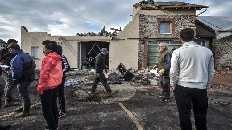 Une maison dont le toit a été arraché par une puissante rafale, à Serres-Sainte-Marie (Béarn), le 22 décembre 2019. (QUENTIN TOP / MAXPPP)