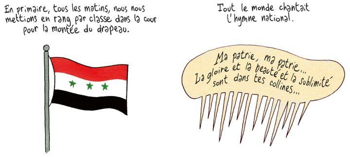 Coquelicots d'Irak, détail page 28  (Brigitte Findakly - Lewis Trondheim)