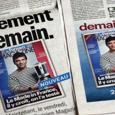 """Arnaud Montebourg, alors ministre du Redressement productif, à la une du """"Parisien Magazine"""", le 18 octobre 2012. (THOMAS COEX / AFP)"""