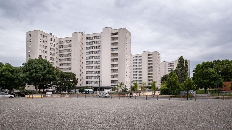 """Le quartier Empalot, situé au nord de Toulouse (Haute-Garonne), où des logements sociaux ont été construits sur le modèle """"Grand Ensemble"""" des années 1960, en juin 2020. (ADRIEN NOWAK / HANS LUCAS)"""