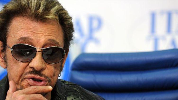 Johnny Hallyday a été hospitalisé alors qu'il enregistrait son nouvel album dans les Antilles  (YURI KADOBNOV / AFP)