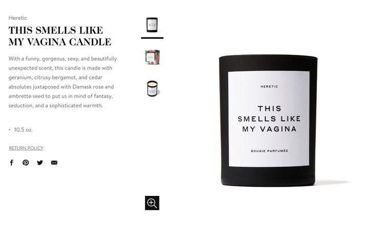 "La bougie ""This Smells Like My Vagina"", en rupture de stock sur le site Goop. (GOOP)"