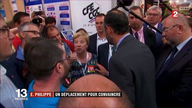 Réforme du Code du travail : Accueil chahuté à Châlons-en-Champagne pour Edouard Philippe