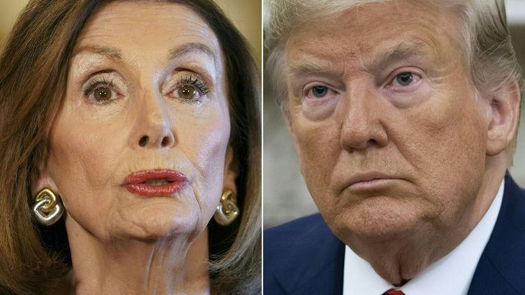 """La cheffe de file des démocrates à la Chambre des représentants, Nancy Pelosi, a annoncé, le 24 septembre 2019, l'ouverture d'une enquête pour """"impeachment"""" visant Donald Trump. (MANDEL NGAN / AFP)"""