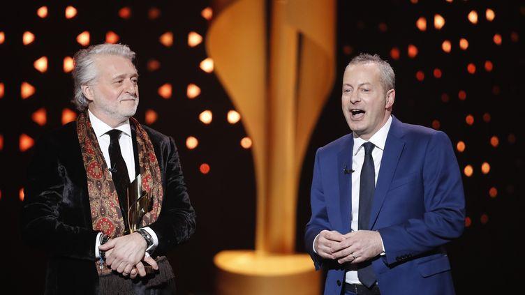 Gilbert Rozon, lors d'une cérémonie qui récompense les programmes de télévision canadiens, à Toronto, le 12 mars 2017. (MARK BLINCH / REUTERS)