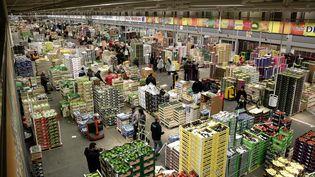 Marché international de Rungis (Val-de-Marne), secteur des fruits et légumes. (/ MAXPPP)