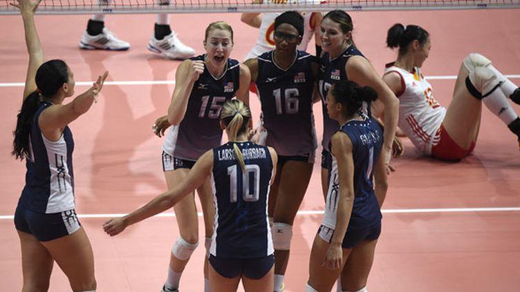 La joie et la rage des Américaines championnes du Monde de volley (OLIVIER MORIN / AFP)