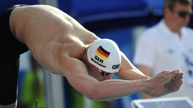 L'Allemand Paul Biedermann (ATTILA KISBENEDEK / AFP)