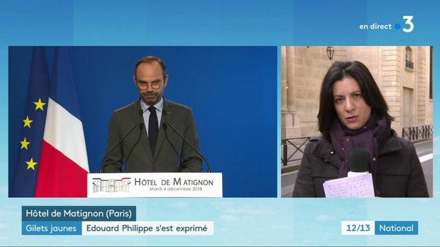 """""""Gilets jaunes"""" : les annonces d'Édouard Philippe"""