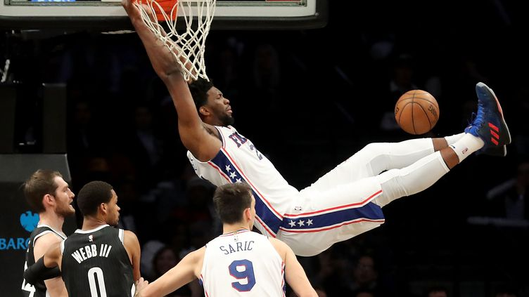 Joël Embiid (Philadelphie Sixers). (ABBIE PARR / GETTY IMAGES NORTH AMERICA)