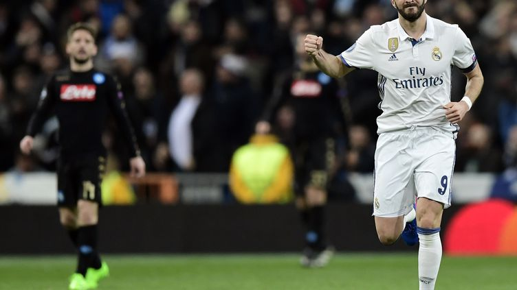 Karim Benzema auteur du premier but du Real à Bilbao (JAVIER SORIANO / AFP)