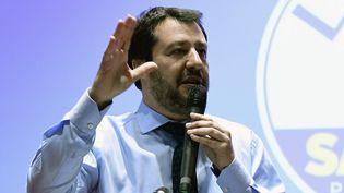 Matteo Salvini, leader d'extrême-droite de la Ligue. (MIGUEL MEDINA / AFP)